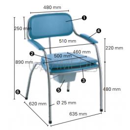Chaise toilettes Omega H450