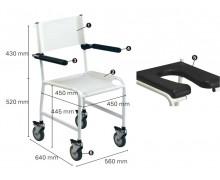 Chaise de douche roulante Revato R7710-073