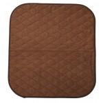 Alèse protection d'assise pour fauteuil marron