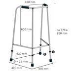 Dimensions du cadre de marche Escort P435B