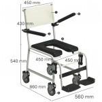 Chaise de douche roulante Revato avec repose-jambes R7712-073