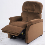 Fauteuil releveur électrique bi-moteurs Confort Plus Mini Marron