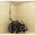 Fauteuil roulant sans métal pour douche, piscine et spa