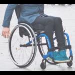 Fauteuil roulant d'occasion kuschall k-series bleu