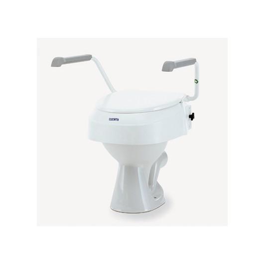 Réhausseur de WC avec abattant et accoudoirs Invacare AT 900