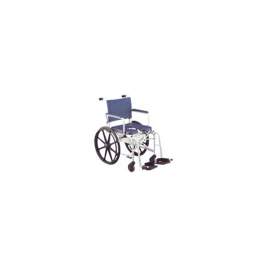 Fauteuil roulant de douche et de toilette pliant Invacare Lima grandes roues