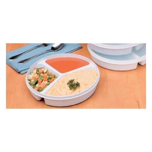 Assiette compartimentée avec couvercle