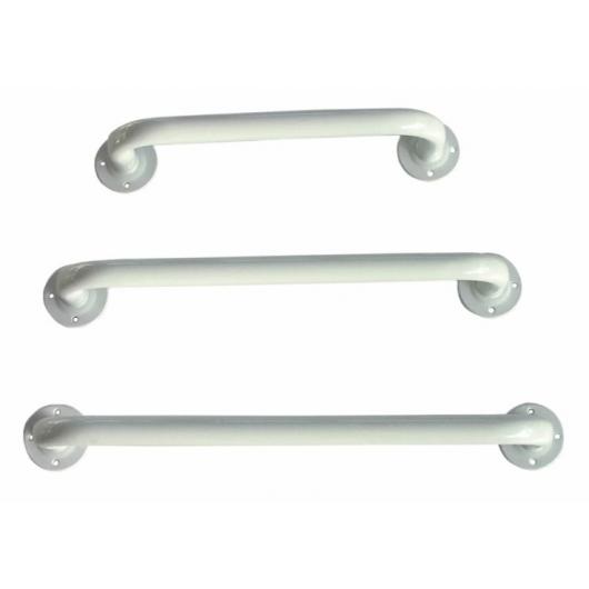 Barre d'appui acier époxy blanc