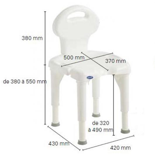 Chaise de douche Invacare I-Fit