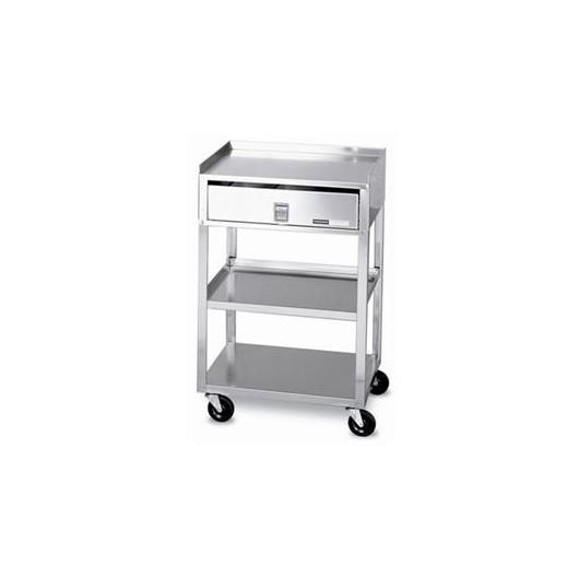 Chariots Gueridon inoxydable / Modèle MB-TD / 3 étages avec tiroir