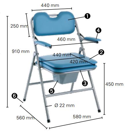 chaise toilettes pliante invacare omega h407 chaise garde robe maintien domicile des g es. Black Bedroom Furniture Sets. Home Design Ideas
