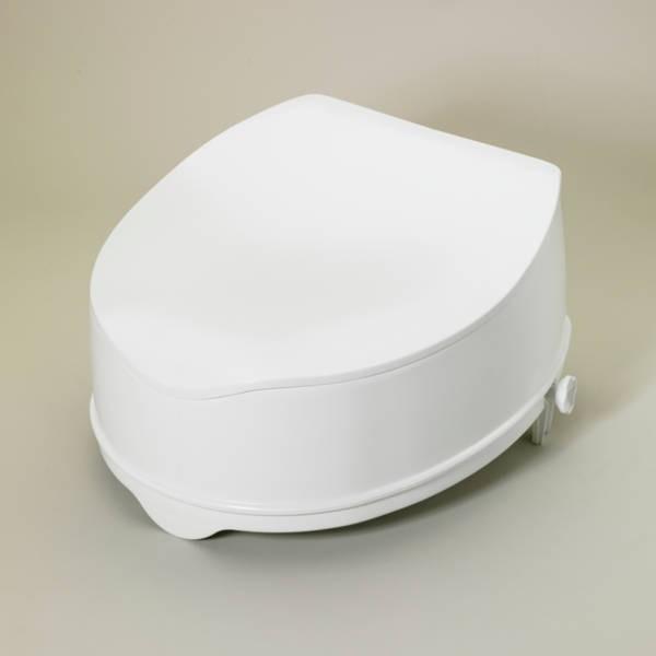 rehausseur de toilettes avec abattant 10 cm maintien domicile accessoires bain douche wc. Black Bedroom Furniture Sets. Home Design Ideas