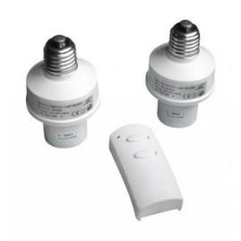 Kit de 2 douilles télécommandées pour ampoules E27