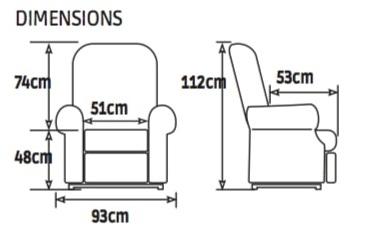 Dimensions Confort Luxe bi-moteurs