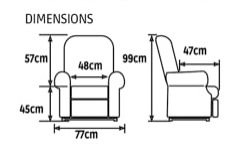 Dimensions Confort Plus Mini1 moteur