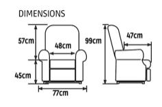 Dimensions Confort Plus Mini bi-moteurs