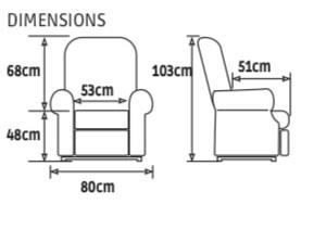 Dimensions Confort Premium 1 moteur