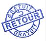 Logo retour gratuit